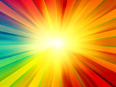 Multicolored Sun Rays Background — Foto Stock