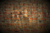 Dark Grungy Brick Wall as Background — Stock Photo