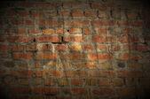 Dark Grungy Brick Wall as Background — Stock Photo