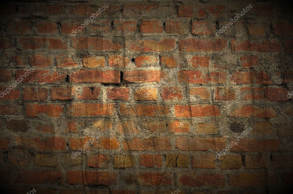 A dark grungy brick wall as a background — Stock Photo #8834602