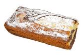 Vanilla and Chocolate Sponge Cake Topped with Powdered Sugar — Stock Photo