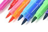 Vícebarevné plsti hrotu pera — Stock fotografie