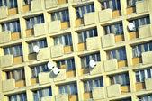 Apartment Building Facade in Dormitory Suburb — Stock Photo