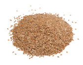 Flax Seeds Isolated on White Background — Stock Photo