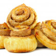 Sweet Cinnamon Rolls Isolated on White Background — Stock Photo
