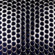Metal Grid with Round Cells as Background - Foto de Stock  