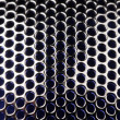 Metal Grid with Round Cells as Background - Stock Photo