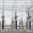 Stock Photo: Electric Power Transformers at Thermal Power Plant