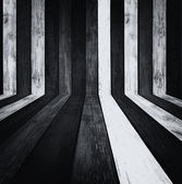Monochrome Wooden Room as Background — Stock Photo