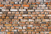 Old Grungy Red Brick Wall as Background — Stock Photo