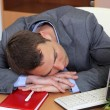 A man sleeping on the job — Stock Photo #10503753