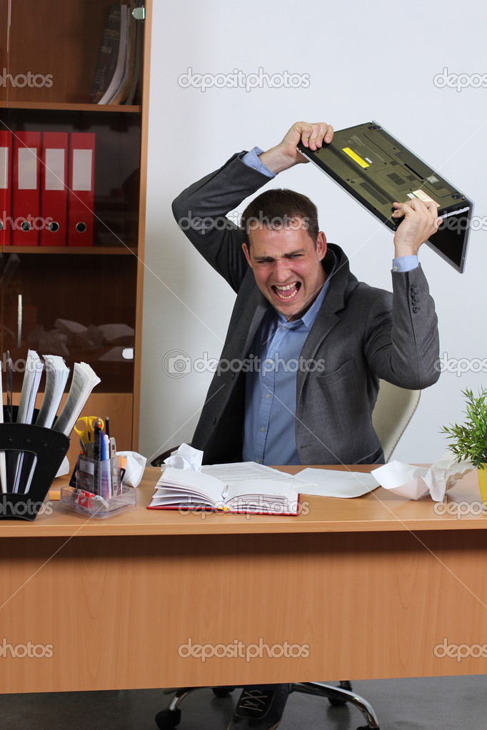 Aggression man in office  Stock Photo #10503836