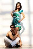 Couple embraced — Stockfoto