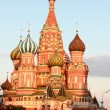 St. Basil's Cathedral on Red square - Stock Photo