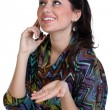 Woman calling by phone — Stock Photo #8731429