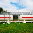 Tanks and pipes with gas — Stock Photo