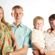 Family portrait  of four — Stockfoto
