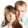 Portrait of young woman and man together — Stock Photo