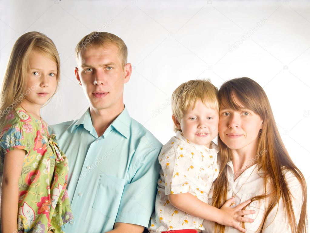 Family portrait  of four — Stock Photo #10234480