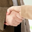 Photo of handshake of business partners after striking deal — Stock Photo