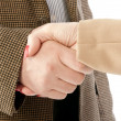 Photo of handshake of business partners after striking deal — ストック写真