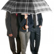 Image of a business with umbrella. — 图库照片