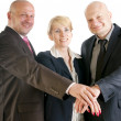 Royalty-Free Stock Photo: Business hands making a pile