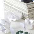 Concept of paper recycling - Stock Photo