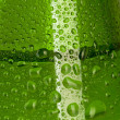 Texture water drops on the bottle — Stock Photo