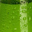 Texture water drops on the bottle — Foto Stock
