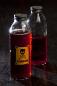 Poison bottle with label — Stock Photo