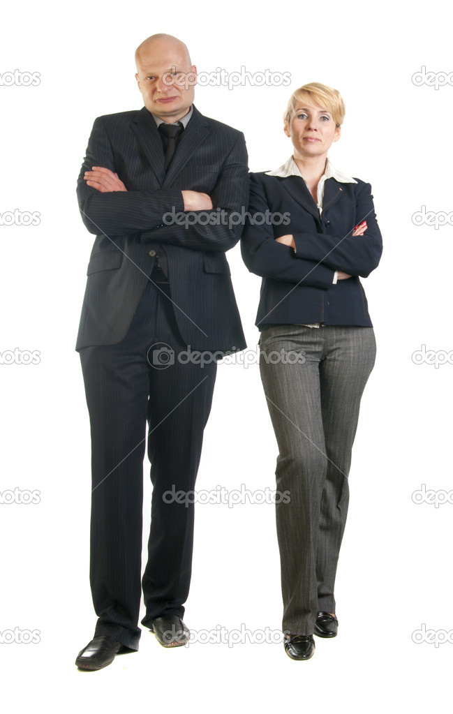 Business and team. Isolated over white background  Stock Photo #10527144