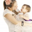 Happy mother with baby girl — Stock Photo #8879849
