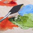 Painting the surface — Stock Photo