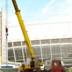 The Olympic Stadium Under Construction For The UEFA EURO 2012 — Stock Photo
