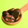 Spoon of coffee bean - Stock Photo