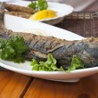 Grilled pelengas fish - Stock Photo