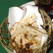 Indian Naan Bread - Stock Photo