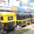 auto rickshaw taxis. panaji — Stock Photo