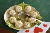 Tibetian vegetarian momo — Stock Photo