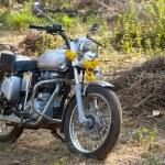 Hindistan, çiçek motosiklet süslenmiş. — Stok fotoğraf