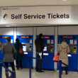 Self service tickets - Stock Photo