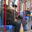 In London Underground train - Stockfoto