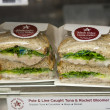 Pret A Manger restaurant  food.There are around 265 shops worldwide known for great sandwiches. — Stock Photo