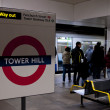 Tower Hill London tube - Stock Photo