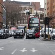 Shaftesbury Avenue  London, Greater London, United Kingdom -3 january 2012 - Stock Photo