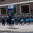 Barclays Cycle Hire (BCH) is a public bicycle sharing scheme that was launched  in London - Stock fotografie