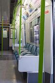 Interior del tren subterráneo de londres — Foto de Stock