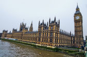 House of Parliament with Big Ban tower in London — Stok fotoğraf
