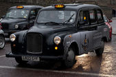 BlackTaxi car in London — Foto Stock
